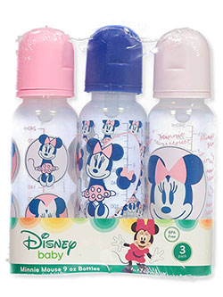 Minnie Mouse 3-Pack Bottles by Disney in Pink/blue, Infants