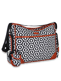 Hobo Diaper Bag by Cherokee in White/black