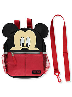 "Mickey Mouse 10"" Harness Backpack by Disney in Black/red, Infants"