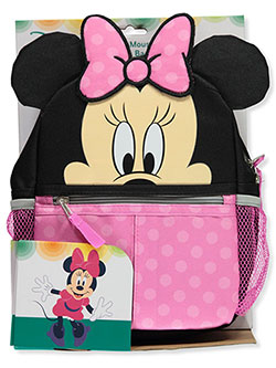 "Minnie Mouse 10"" Harness Backpack by Disney in Black/pink, Infants"