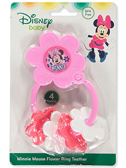 Minnie Mouse Flower Ring Teether by Disney in Pink