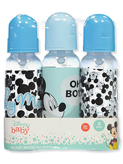 Mickey Mouse Oh Boy 3-Pack Baby Bottles by Disney in Multi