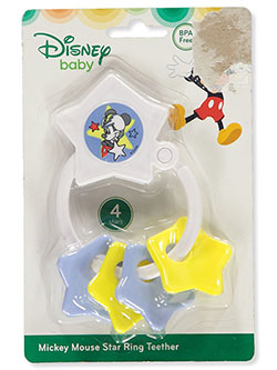 Mickey Mouse Baby Boys' Star Ring Teether by Disney in Yellow