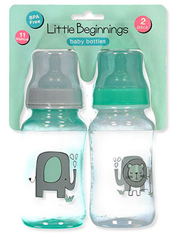 2-Pack Baby Bottles by Little Beginnings in Multi