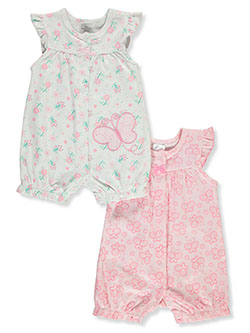 2-Pack Butterfly Rompers by Little Beginnings in Pink/multi