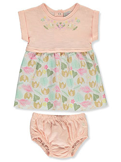 Floral Elephant Dress With Diaper Cover by Limited Too in Pink