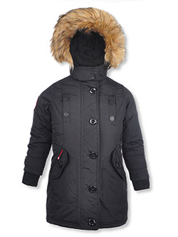 Girls' Insulated Parka by Canada Weather Gear in black, blush and red