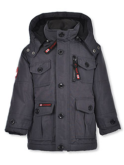 Boys' 2-Piece Insulated Parka by Canada Weather Gear in black, charcoal gray and olive, Boys Fashion