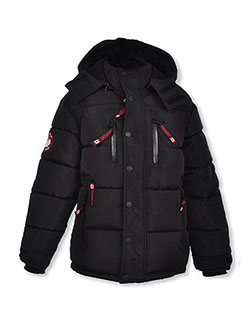 Boys' Bubble Insulated Parka by Canada Weather Gear in black and heather gray