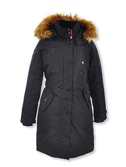 Insulated Parka by Canada Weather Gear in black, dusty rose and light gray