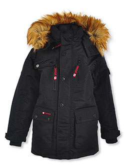 Zip Chest Insulated Parka by Canada Weather Gear in black, navy and oak