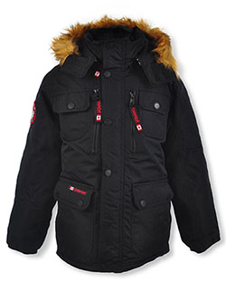 Zip Chest Insulated Parka by Canada Weather Gear in black and navy
