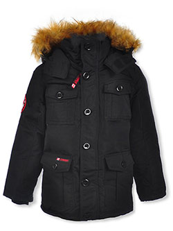 Canada Weather Gear Button Placket Insulated Parka by Canada Weather Gear i in black, camo, navy and oak