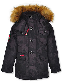 Canada Weather Gear Button Placket Insulated Parka by Canada Weather Gear i in black, camo and navy
