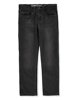 Boys' Slim Straight Jeans by Amplify in Black, Sizes 8-20