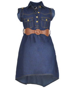 "Dollhouse Little Girls' ""Sweet Indeed"" Belted Hi-Low Dress (Sizes 4 – 6X) - CookiesKids.com"