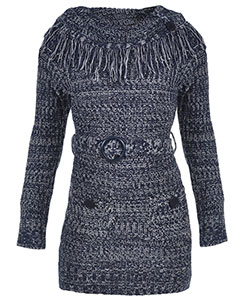 "Dollhouse Big Girls' ""Wide Turtleneck"" Sweater Dress (Sizes 7 – 16) - CookiesKids.com"