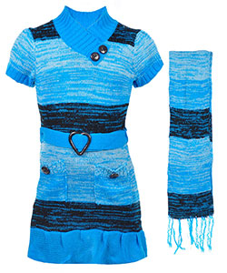 "Dollhouse Little Girls' Toddler ""Lunar"" Sweater Dress (Sizes 2T – 4T) - CookiesKids.com"