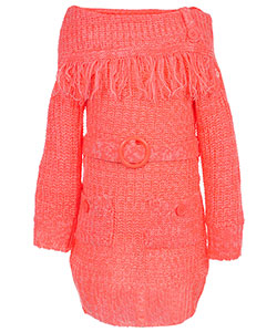 "Dollhouse Little Girls' Toddler ""Moore"" Belted Sweater Dress (Sizes 2T – 4T) - CookiesKids.com"