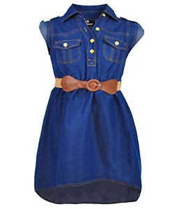 "Dollhouse Little Girls' ""Sweet Indeed"" Belted Dress (Sizes 4 – 6X) - CookiesKids.com"