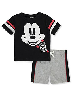 Coolest Kid Ever 2-Piece Shorts Set Outfit by Disney Mickey Mouse in Multi