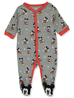 Baby Boys' Footed Coveralls by Disney Mickey Mouse in Red/gray, Infants