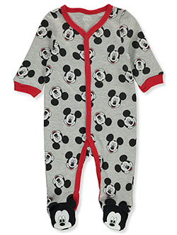 Baby Boys' Footed Coveralls by Disney Mickey Mouse in Gray, Infants