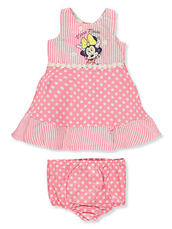 Minnie Mouse Baby Girls' 2-Piece Dress Set Outfit by Disney Minnie Mouse in Multi, Infants