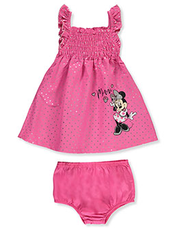 Minnie Mouse Shimmer Dot 2-Piece Dress Set Outfit by Disney Minnie Mouse in Multi, Infants