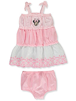 Minnie Mouse 2-Piece Tiered Woven Dress Set Outfit by Disney Minnie Mouse in Multi, Infants