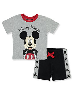 2-Piece Shorts Set Outfit by Disney Mickey Mouse in Multi
