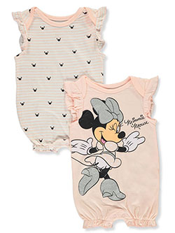 Baby Girls' 2-Pack Rompers by Disney Minnie Mouse in Multi - $21.00