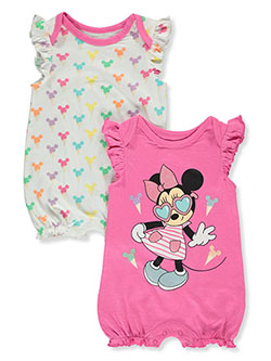 2-Pack Ice Cream Rompers by Disney Minnie Mouse in Fuchsia/multi - Rompers