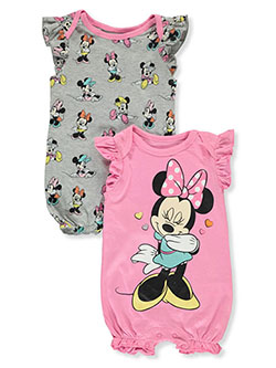 Giggling Minnie 2-Pack Rompers by Disney Minnie Mouse in Pink/multi - Rompers