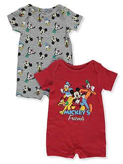 & Friends 2-Pack Rompers by Disney Mickey Mouse in Red/multi - Rompers