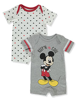 Baby Boys' 2-Pack Rompers by Disney Mickey Mouse in Gray multi - Rompers