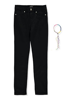 Girls' Skinny Pants with Anklet by DKNY in black, dusty rose and olive