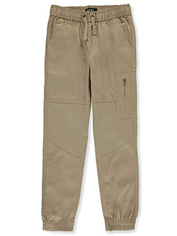 Boys' Zip Cargo Pocket Joggers by DKNY in khaki and navy