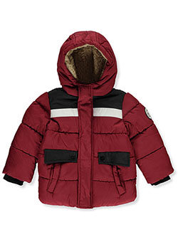 Baby Boys' Logo Back Insulated Parka by DKNY in Red