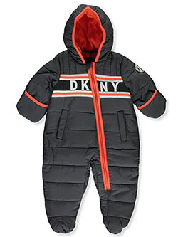 Baby Boys' Logo Stripe Insulated Pram Suit by DKNY in Charcoal