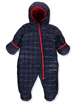 Baby Boys' Square Baffle Insulated Pram Suit by DKNY in Navy