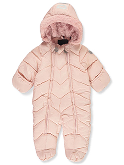 Baby Girls' Zigzag Baffle Pram Suit by DKNY in Blush - Snowsuits