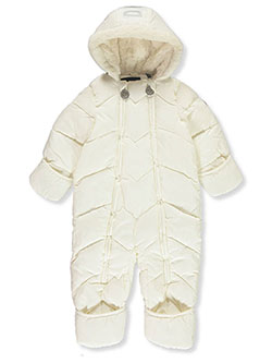 Baby Girls' Zigzag Baffle Pram Suit by DKNY in Cream - Snowsuits