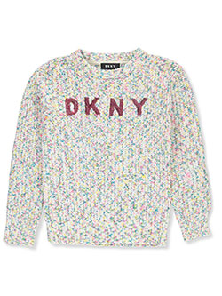 Girls' Confetti Sequin Logo Sweater by DKNY in Concrete