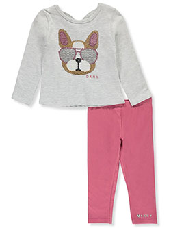 Baby Girls' 2-Piece Leggings Set Outfit by DKNY in Light heather gray