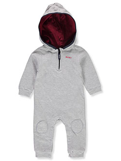 Baby Boys' Hooded Coverall by DKNY in Light heather