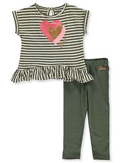 Baby Girls' 2-Piece Leggings Set Outfit by DKNY in Heather gray