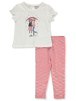 Baby Girls' 2-Piece Leggings Set Outfit by DKNY in Off white