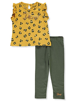 Baby Girls' 2-Piece Leggings Set Outfit by DKNY in Mustard