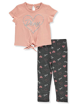 Baby Girls' 2-Piece Leggings Set Outfit by DKNY in Rose